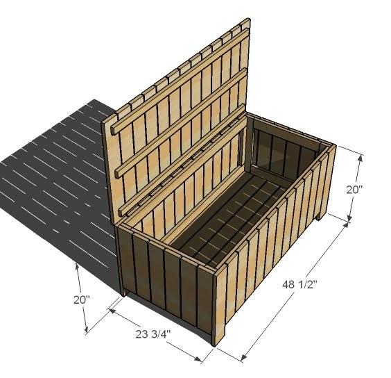 storage bench plans outdoor