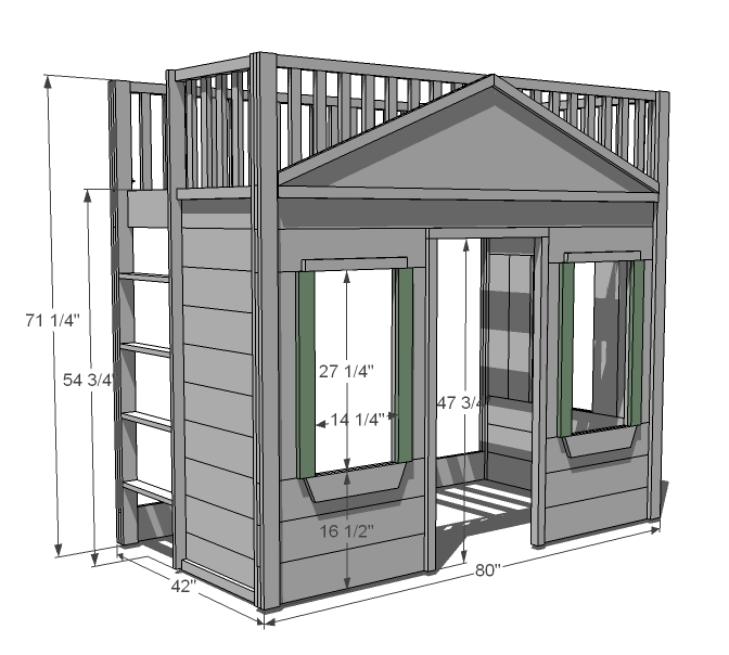 twin loft bunk bed plans
