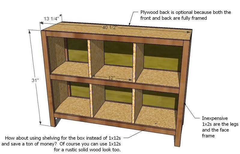 plans building storage cubes