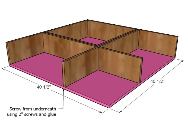 bottom cut your bottom plywood and attach it to the bottom of your