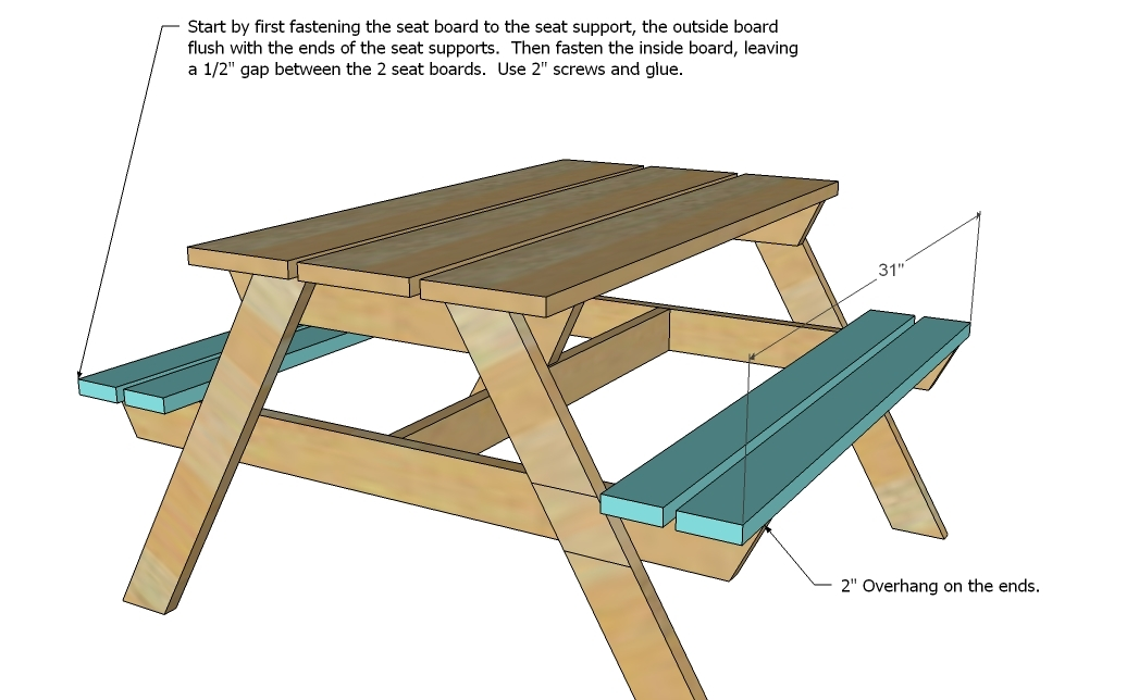 plans kids picnic table
