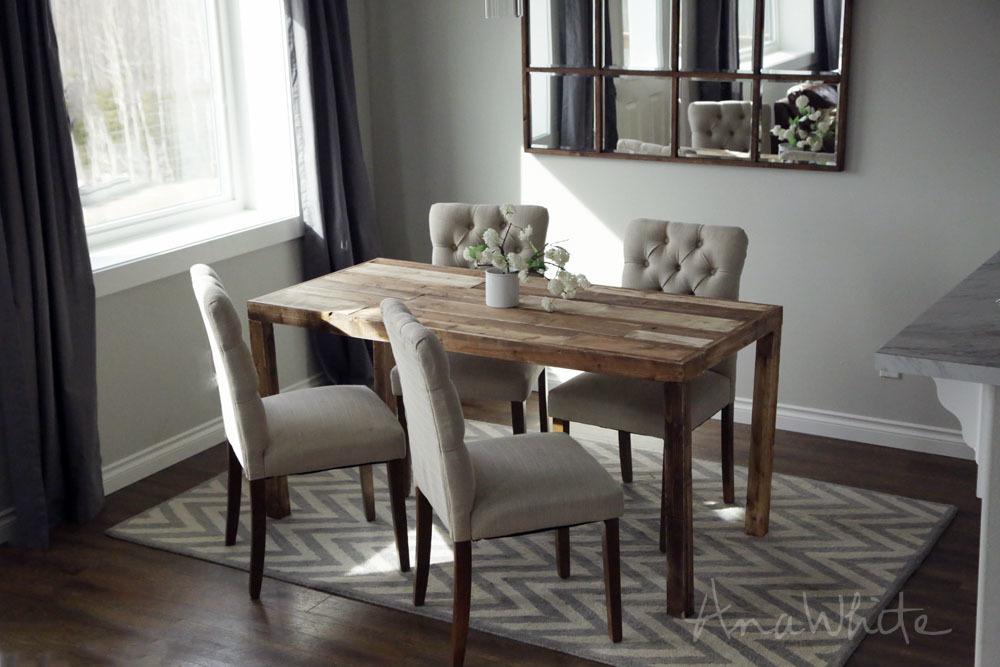 Modern Reclaimed Wood Dining