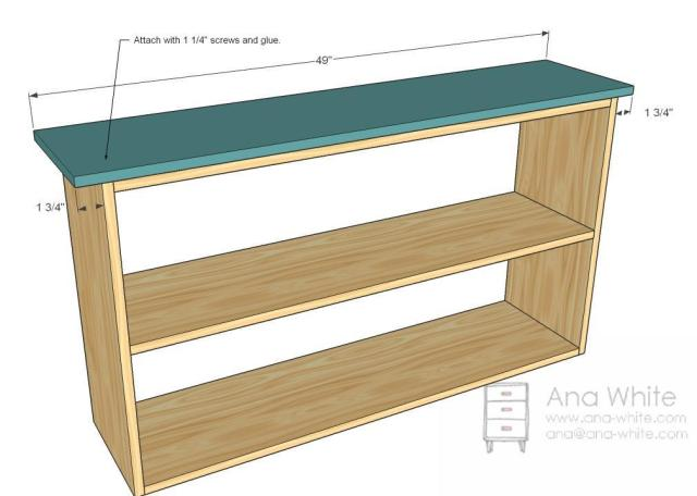 White | Build a Grace's Bookshelves - Plans for Two | Free and Easy ...