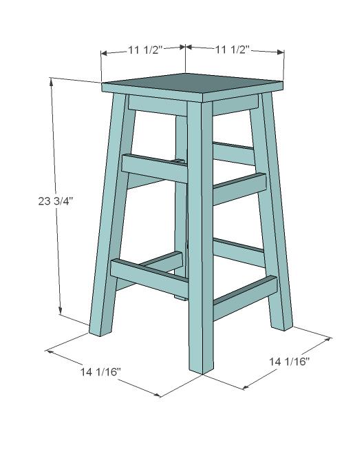 diy wood stool plans