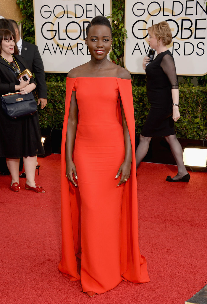 Lupita-Nyongo-made-stunning-Golden-Globes-arrival-her-red-Ralph-Lauren-dress
