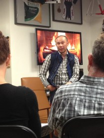 "Soaking up the wisdom at a ""fireside"" chat with Allen Lim of Skratch Labs"