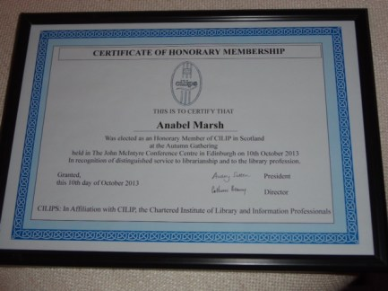 CILIPS Honorary Membership