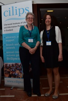 With Wendy Kirk at CILIPS13