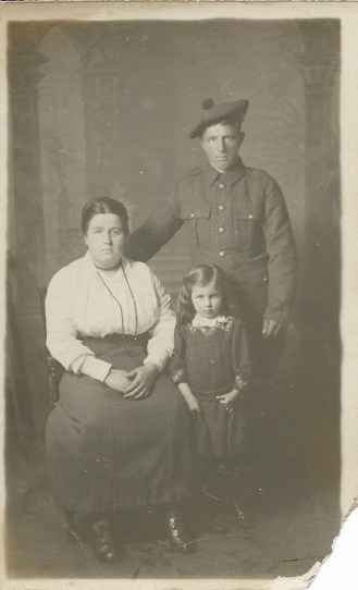 Kate, Stewart and Nettie McClure c 1918