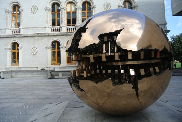 Sphere Within Sphere, sculpture, Trinity College, Dublin