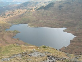 Easdale Tarn from above