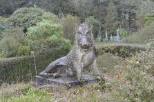 Wild boar statue