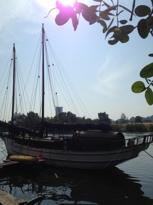 Bedar, takie łódki buduje się w Kuala Terengganu