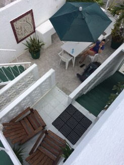 sweet cute B&B terrace
