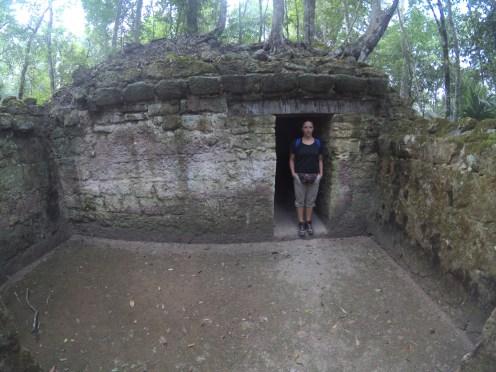 Mayan residence entrance
