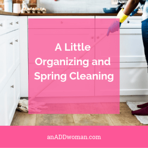 A Little Organizing and Spring Cleaning