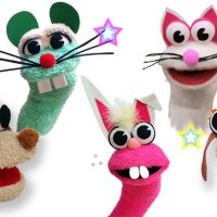 Animal sock puppets