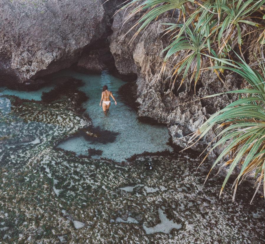 Magpupungko Rock Pools. siargao island