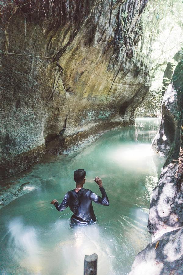 Tayangban Cave Pool SIARGSO ISLAND