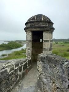 Sentry box at Fort Matanzas National Monument
