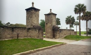 The Old City Gates in St. Augustine, Florida