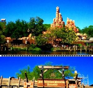 Big Thunder Mountain ride in Disney World