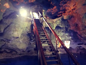 Ladder inside Devil's Den cave