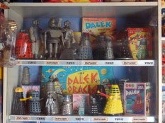 Matchbox Doctor Who toys at the West Wales Museum of Childhood
