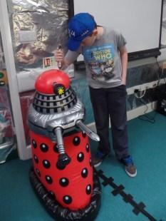 Dalek in Dunbury Academy TARDIS