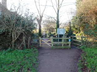 Skagra passes the gate in Shada - Doctor Who filming location Grantchester Meadows