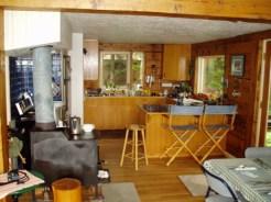 Kitchen area at lodge