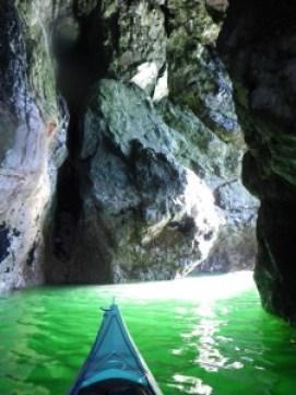 Glacier Island cave