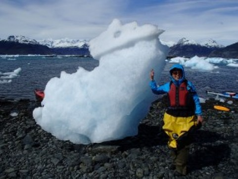 First time standing next to an iceburg!