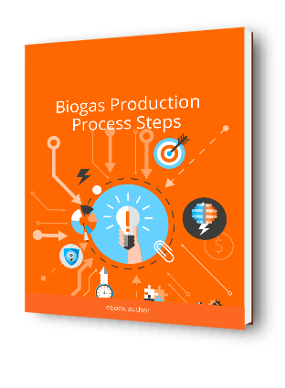 Image shows our Biogas Production Process eBook cover.