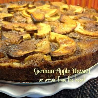 German Apple Dessert