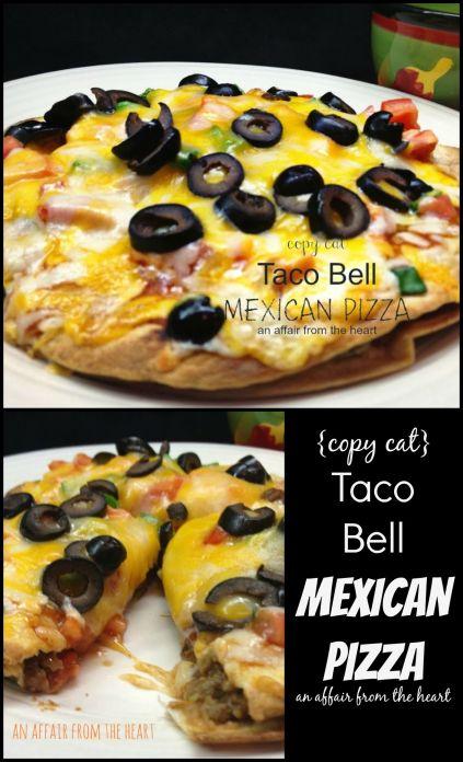 Copy Cat Taco Bell Mexican Pizza Recipe