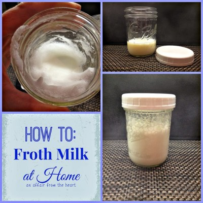 How To: Froth your own milk at home