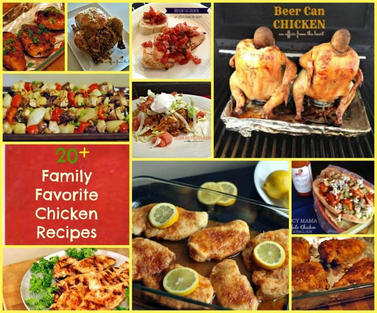 20+ family favorite chicken recipes