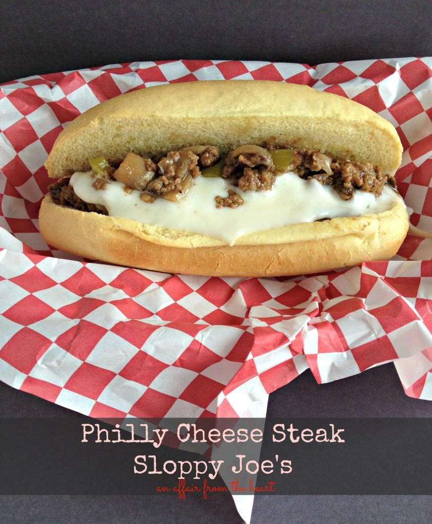 Philly Cheese Steak Sloppy Joe S An Affair From The Heart