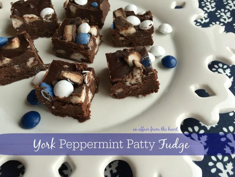 york peppermint patty fudge