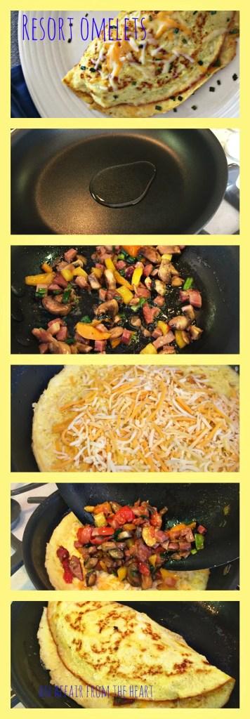 Resort Omelets collage