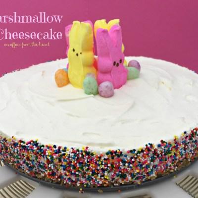 {no bake} Marshmallow Cheesecake