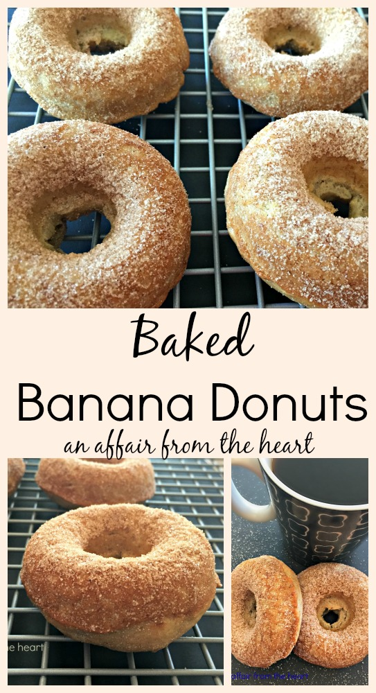 Baked Banana Donuts An Affair From The Heart