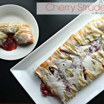 Cherry Strudel {only 5 ingredients!}