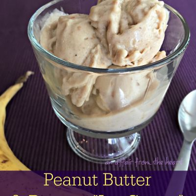 "(4 ingredient) Peanut Butter & Banana ""Ice Cream"""
