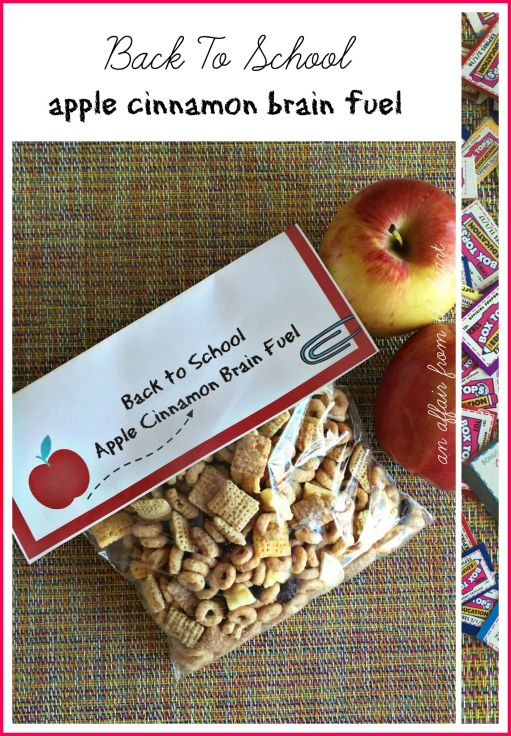 Back to School Apple Cinnamon Brain Fuel