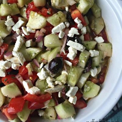 Greek Style Cucumber Salad
