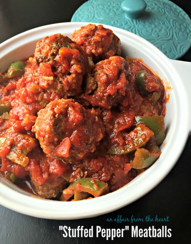"""Stuffed Pepper"" Meatballs"