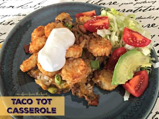 Taco Tot Casserole