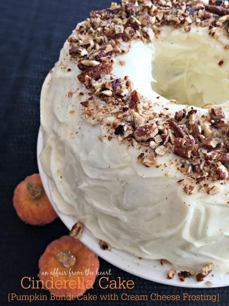 Cinderella Cake {Pumpkin Bundt Cake with Cream Cheese Frosting}